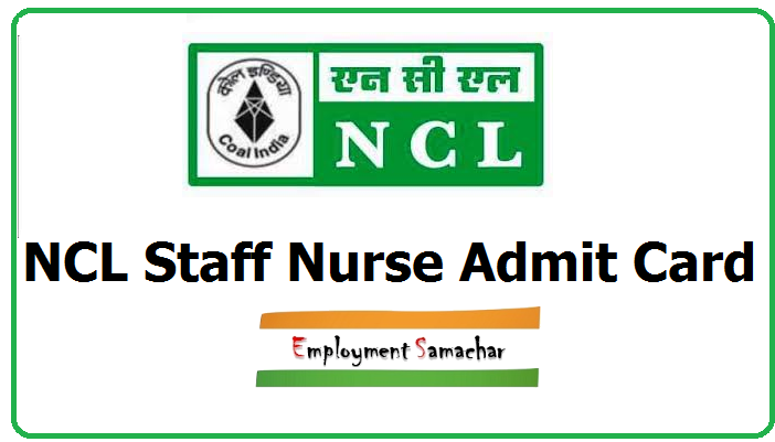 NCL Staff Nurse Admit Card