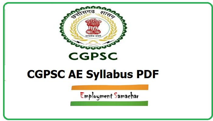 CGPSC AE Syllabus