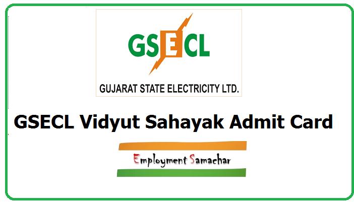 GSECL Vidyut Sahayak Admit Card
