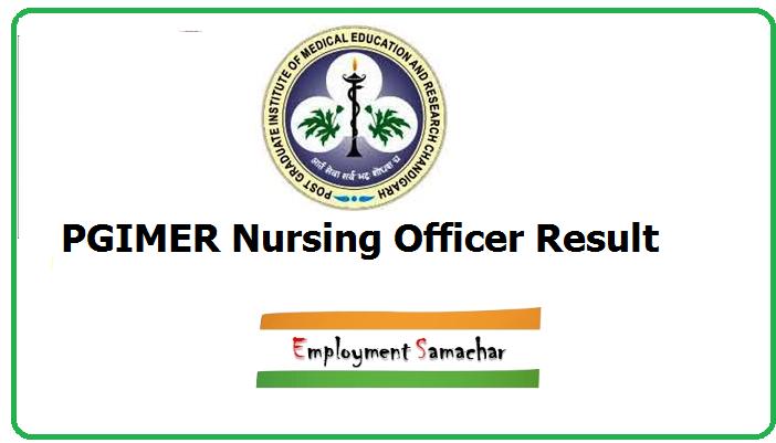 PGIMER Nursing Officer Result