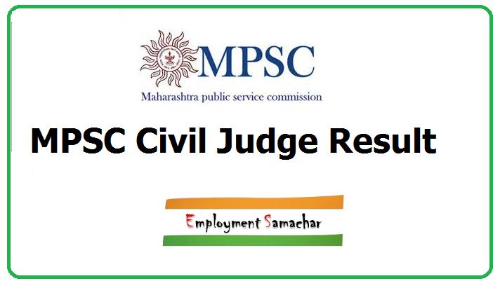 MPSC Civil Judge Result
