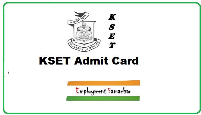 KSET Admit Card
