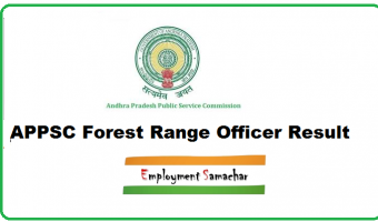 APPSC Forest Range Officer Result