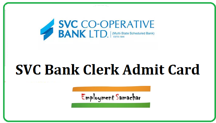 SVC Bank Clerk Admit Card