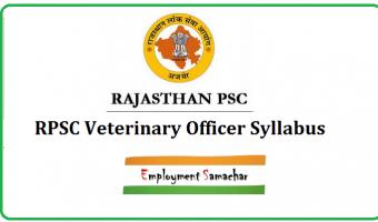 RPSC Veterinary Officer Syllabus