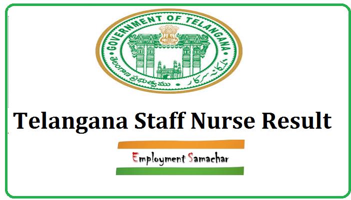 Telangana Staff Nurse Result
