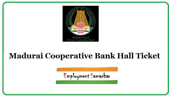 Madurai Cooperative Bank Hall Ticket