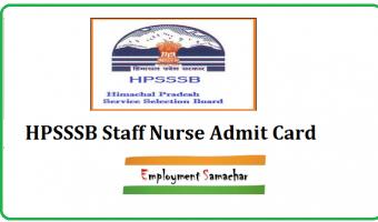 HPSSSB Staff Nurse Admit Card