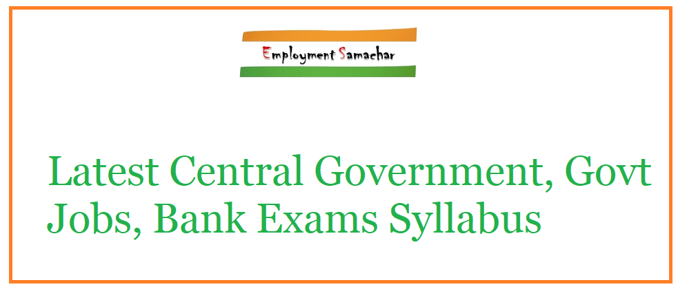 All Government Exams Syllabus