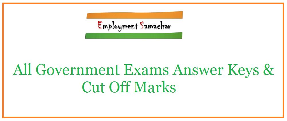 Answer Key & Cut Offs