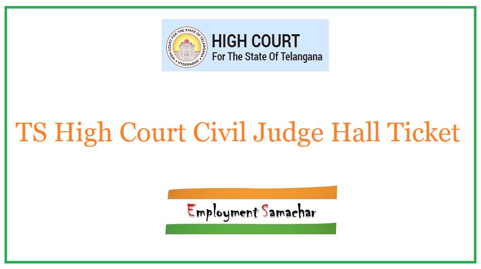 TS High Court Civil Judge Hall Ticket