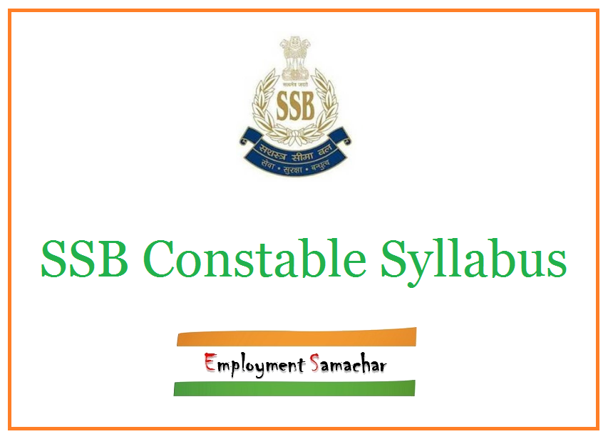 SSB Constable Syllabus