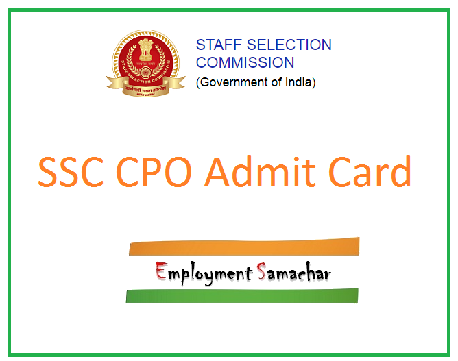 SSC CPO Admit Card