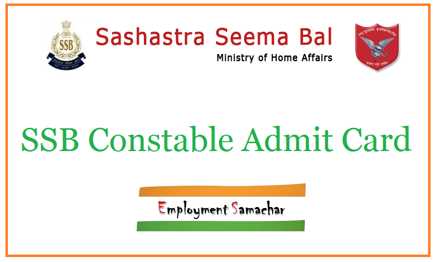 SSB Constable Admit Card
