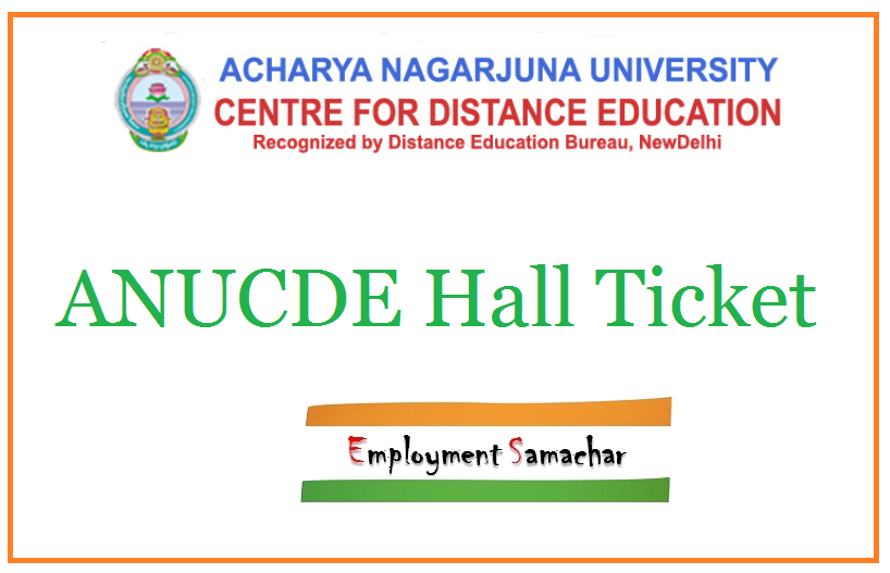 ANUCDE Hall Ticket