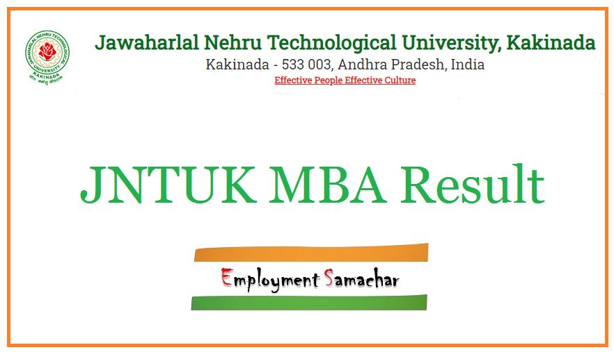 JNTUK MBA Result