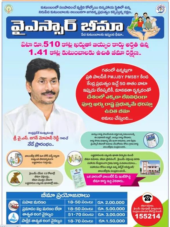 YSR Bheema Scheme Brochure