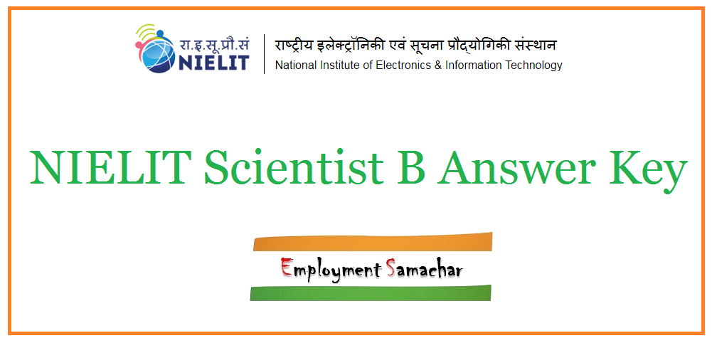 NIELIT Scientist B Answer Key
