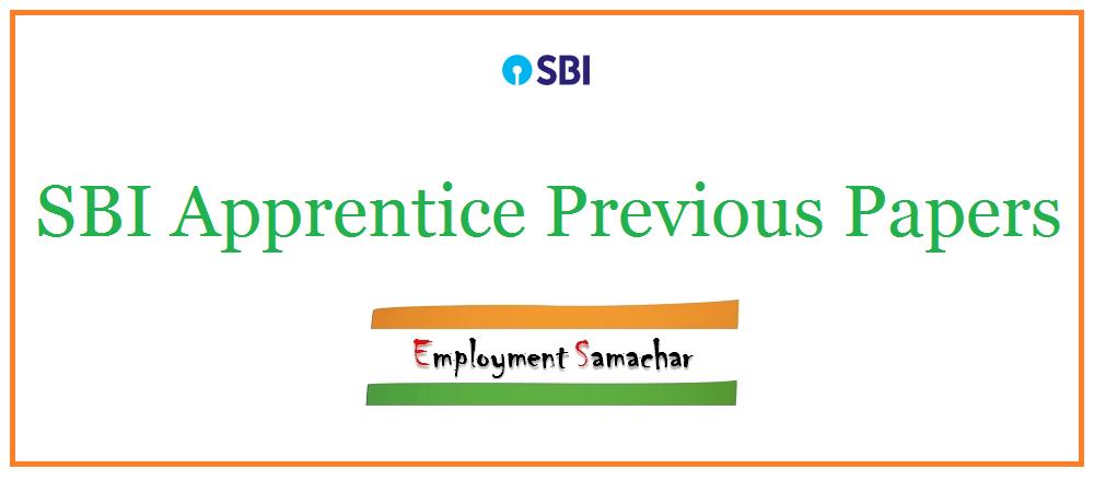 SBI Apprentice Previous Papers