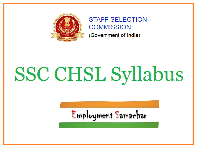 SSC CHSL Syllabus