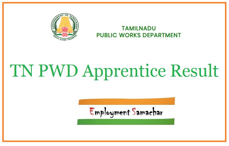 TN PWD Apprentice Result
