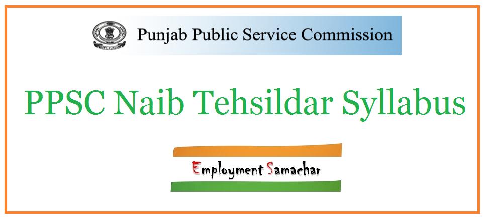 PPSC Naib Tehsildar Syllabus