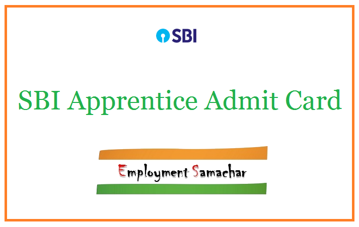 SBI Apprentice Admit Card