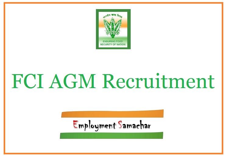 FCI AGM Recruitment