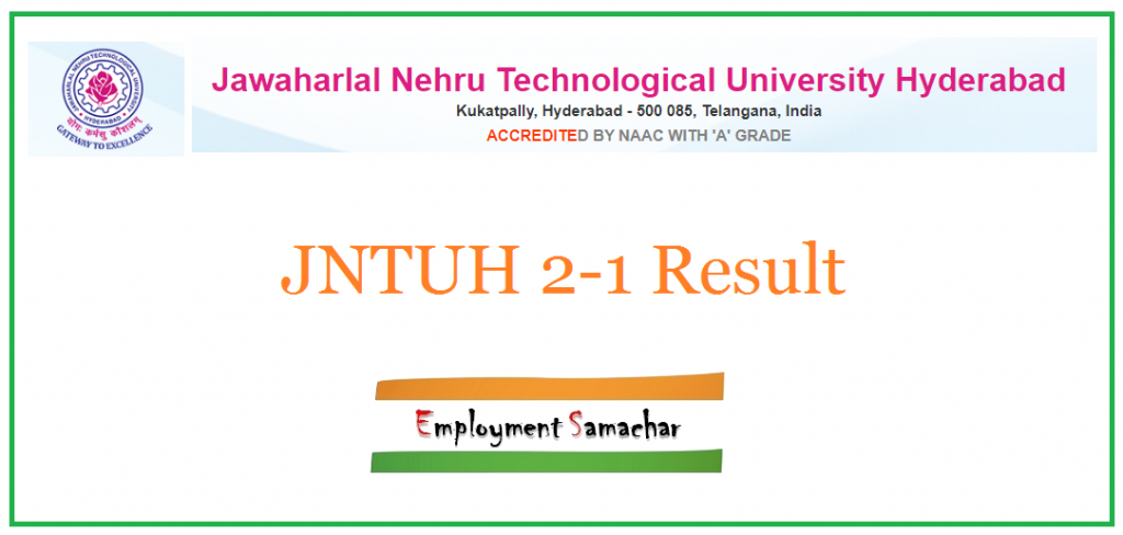 JNTUH 2-1 Result
