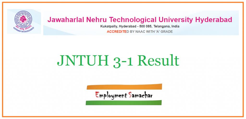 JNTUH 3-1 Result
