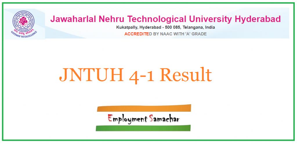 JNTUH 4-1 Result