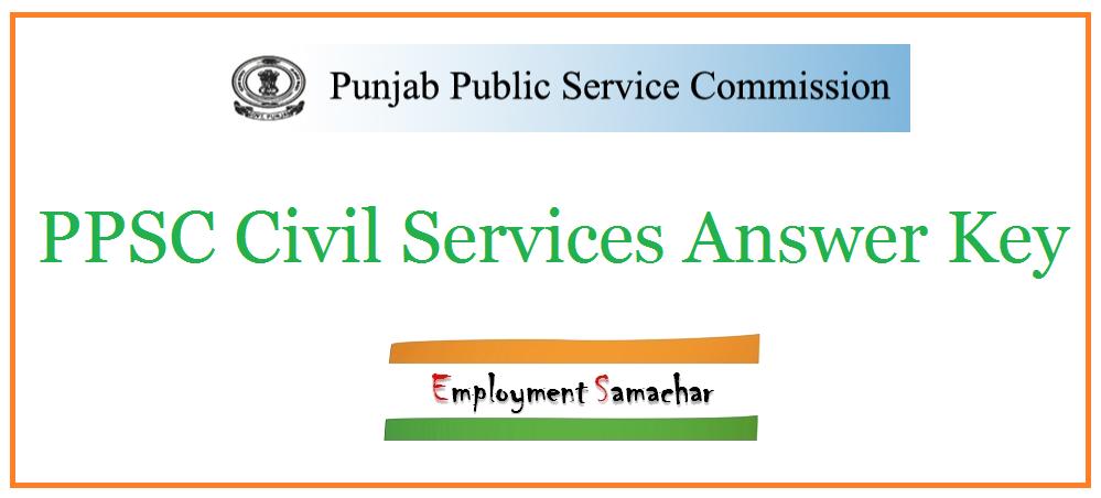 PPSC Civil Services Answer Key
