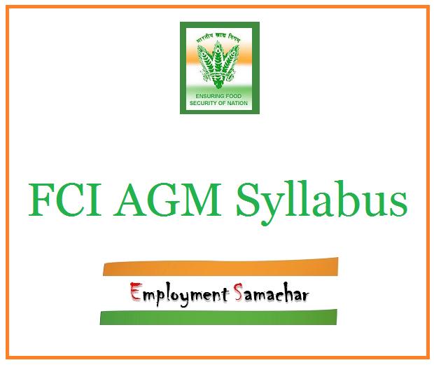 FCI AGM Syllabus