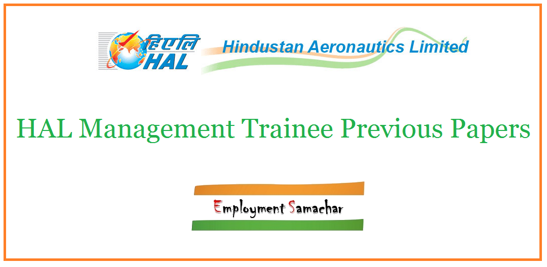 HAL Management Trainee Previous Papers