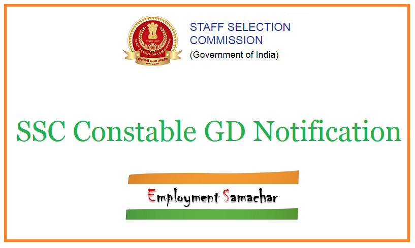 SSC Constable GD Notification