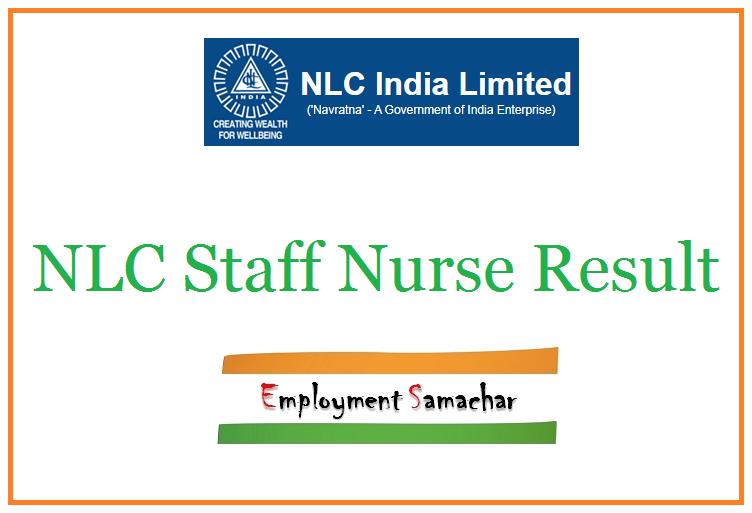 NLC Staff Nurse Result