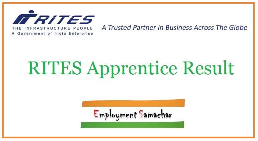 RITES Apprentice Result