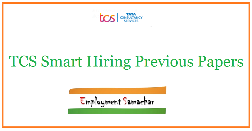 TCS Smart Hiring Previous Papers