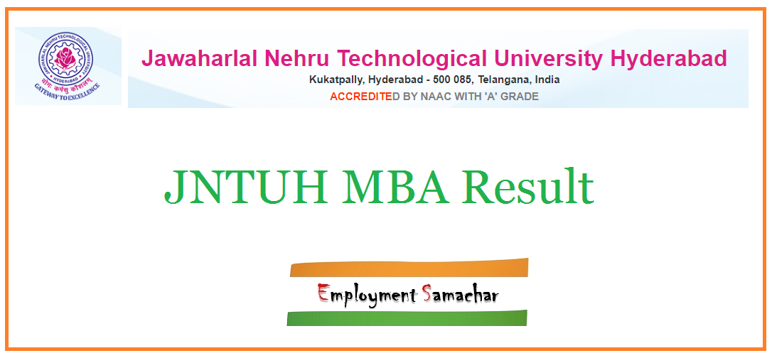 JNTUH MBA Result
