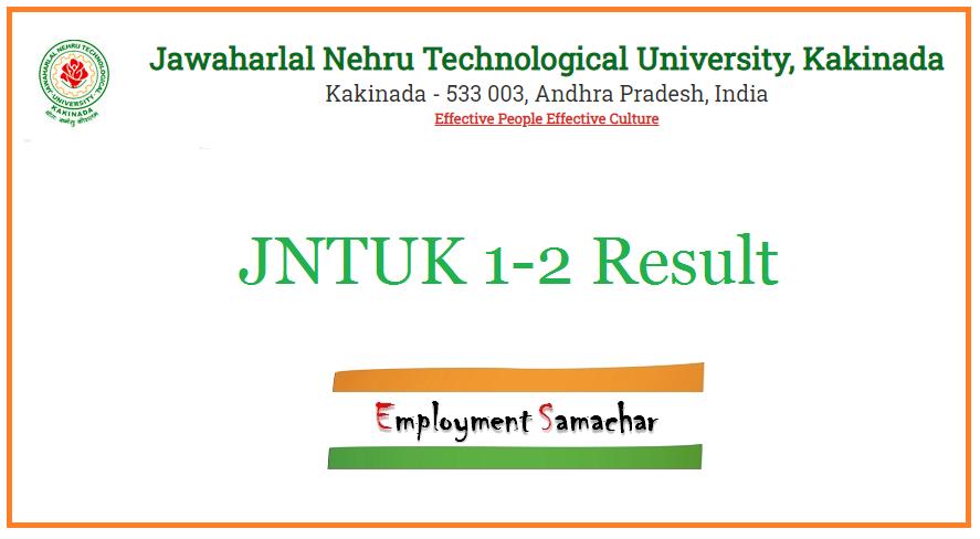 JNTUK 1-2 Result