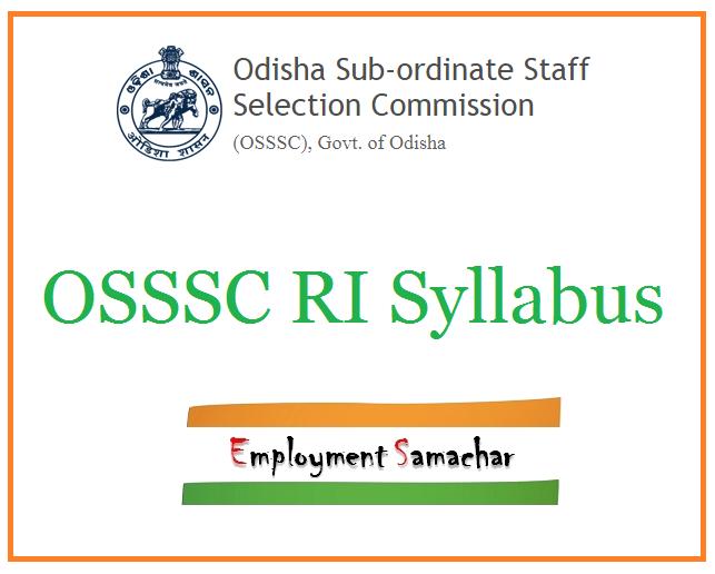 OSSSC RI Syllabus