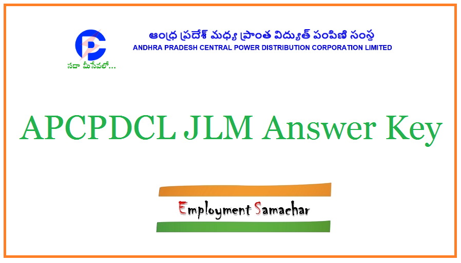 APCPDCL JLM Answer Key