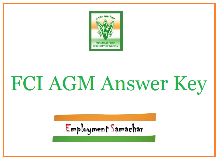 FCI AGM Answer Key