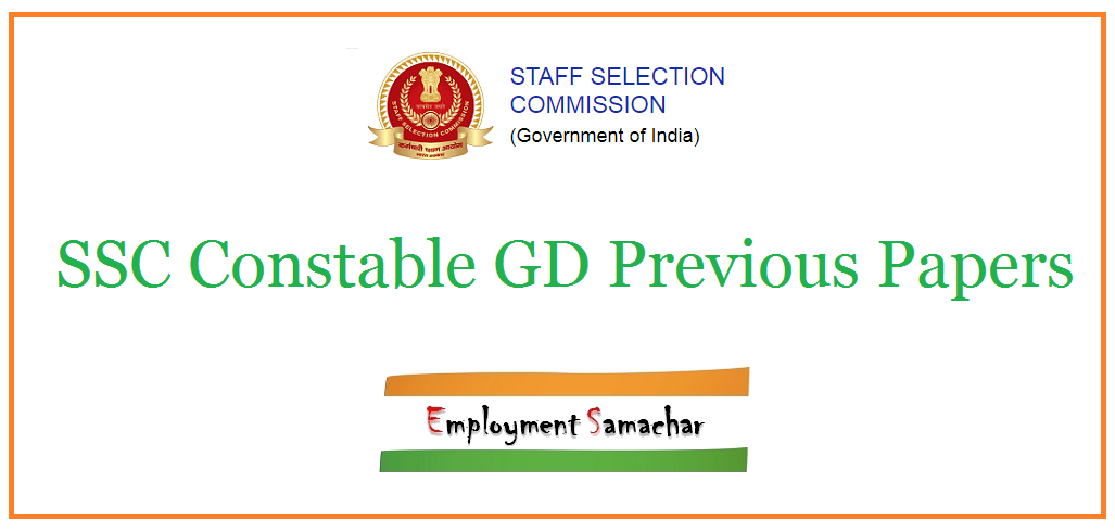 SSC Constable GD Previous Papers