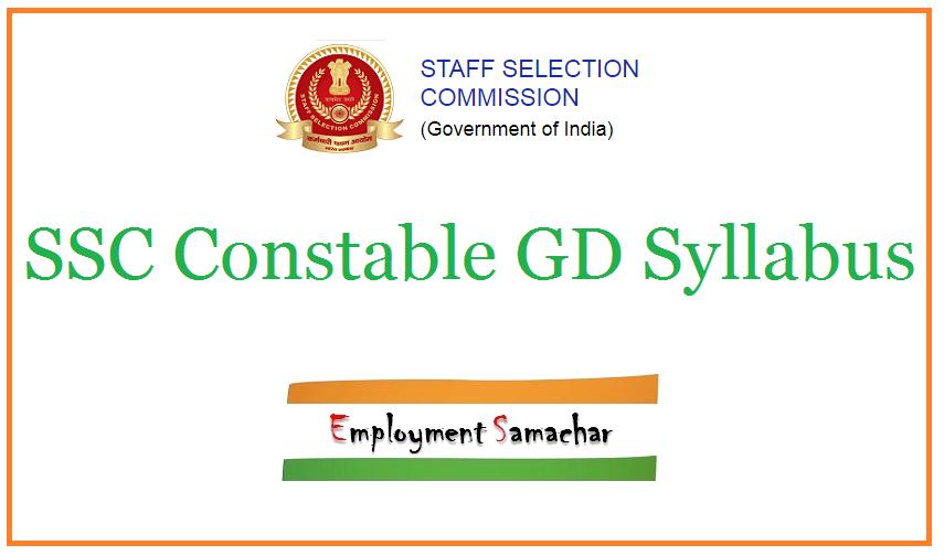 SSC Constable GD Syllabus