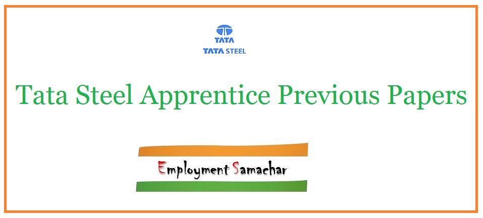 Tata Steel Apprentice Previous Papers