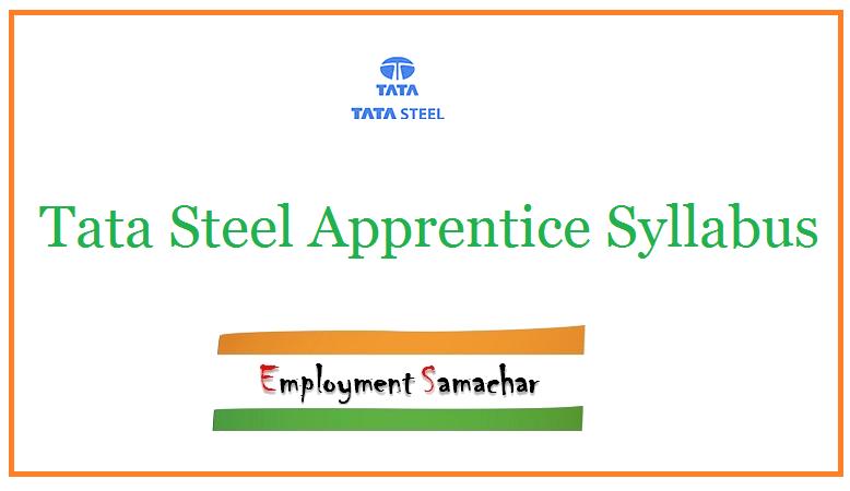 Tata Steel Apprentice Syllabus