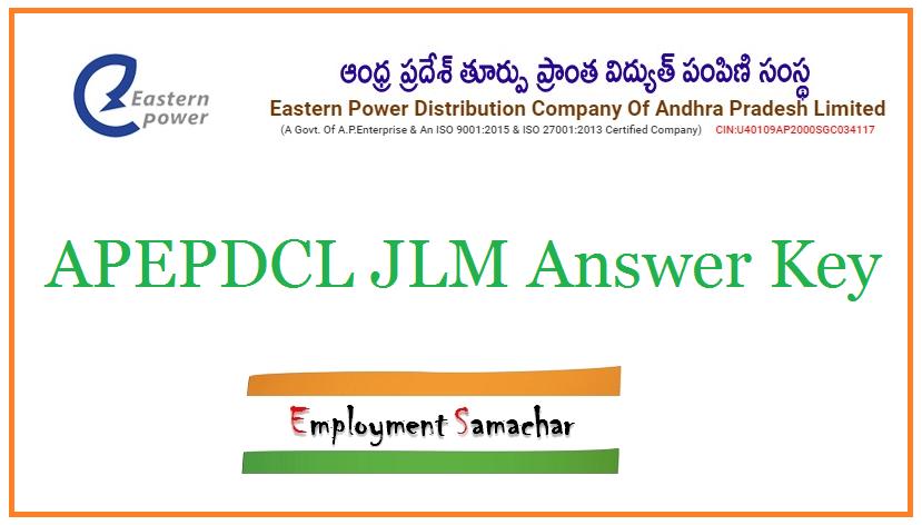 APEPDCL JLM Answer Key