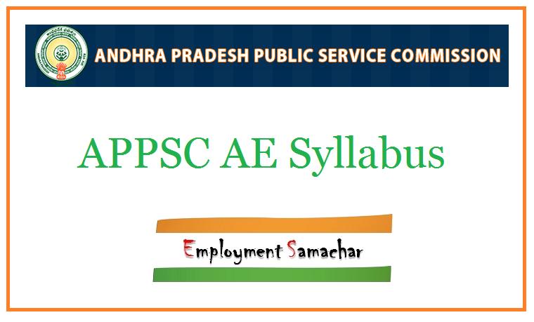 APPSC AE Syllabus